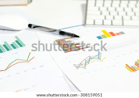 analyzing report, business performance concept #308159051