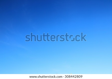 blue sky background Royalty-Free Stock Photo #308442809