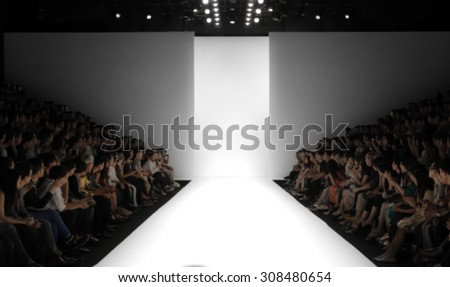 Fashion runway out of focus,blur background  Royalty-Free Stock Photo #308480654