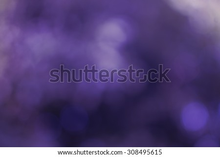 The purple abstract bokeh blurred background based from tree