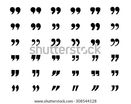Set of quotation marks Royalty-Free Stock Photo #308544128