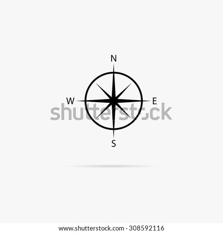 Simple icon compass