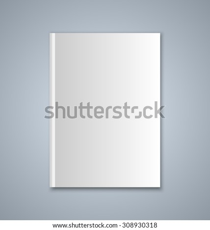 Brochure or book cover template on grey background #308930318