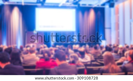 Abstract blur Business Conference and Presentation #309108728