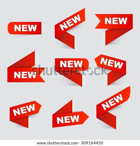 Sign New. New signs. Isolated vector illustration. #309164450