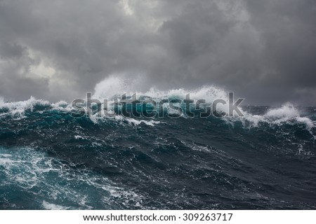 ocean wave in the indian ocean during storm