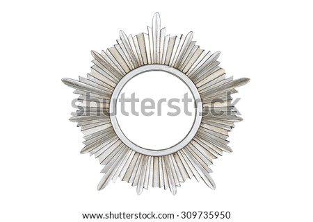 Silver picture frame isolated on white background with clipping path.