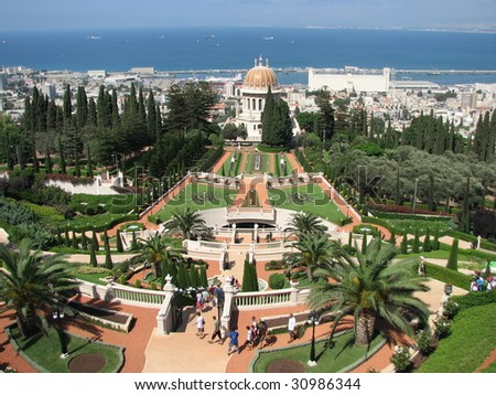 """The temple of Bahai"" in Haifa, israel #30986344"