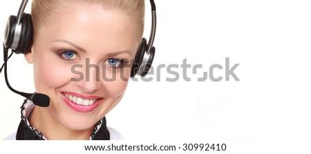 Woman wearing headset #30992410