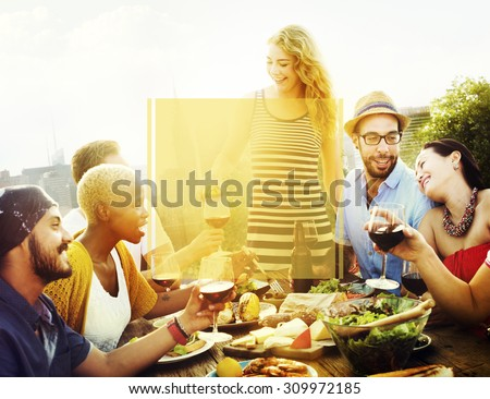 Copy Space Frame Summer Vacation Holiday Concept #309972185