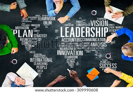 Leadership Boss Management Coach Chief Global Concept #309990608