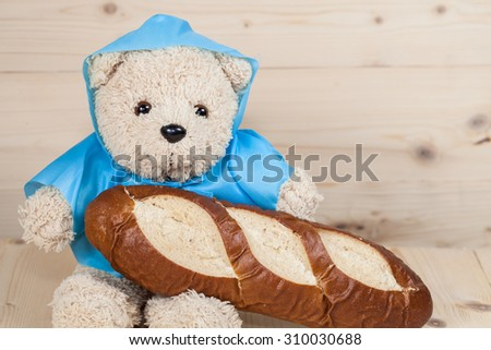 toy bear is having breakfast #310030688