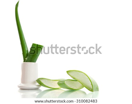 Aloe sliced, isolated on a white background #310082483