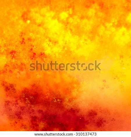 Textures create a sense of chaotic applying paint to the canvas. Texture is slightly grainy, sometimes blurred. The color scheme is warm, evokes the feeling of a beautiful autumn colorful combinations
