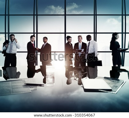 Business People Corporate Team Discussion Meeting Concept #310354067