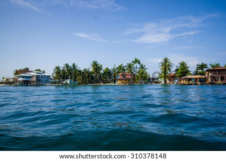 Colon Island, is the northernmost and main island in the Bocas del Toro Archipelago located in Bocas del Toro Province #310378148