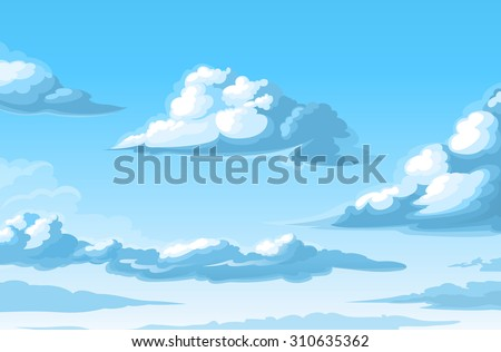 Vector clouds Royalty-Free Stock Photo #310635362