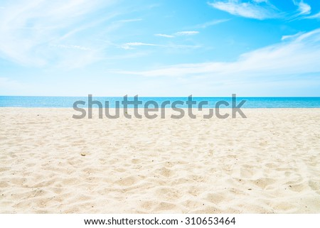 Empty sea and beach background with copy space #310653464