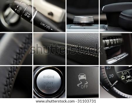 Car interior details collage #31103731