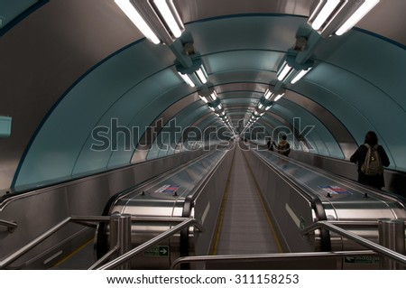 all travelator with people #311158253