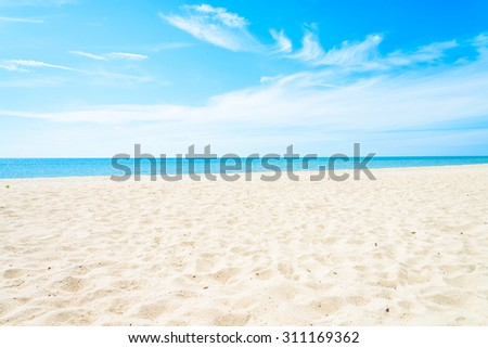Empty sea and beach background with copy space #311169362