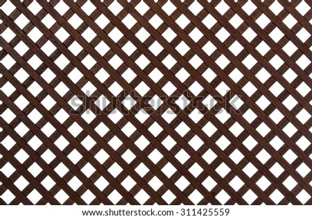 Wooden lattice, isolated on white background #311425559