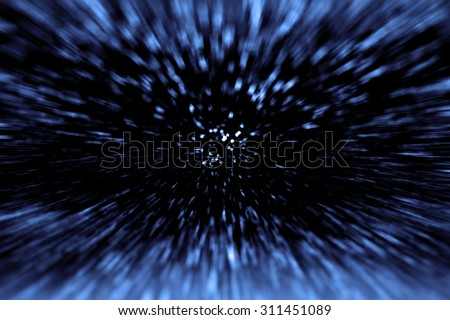Abstract science fiction outer space and time travel concept background Royalty-Free Stock Photo #311451089