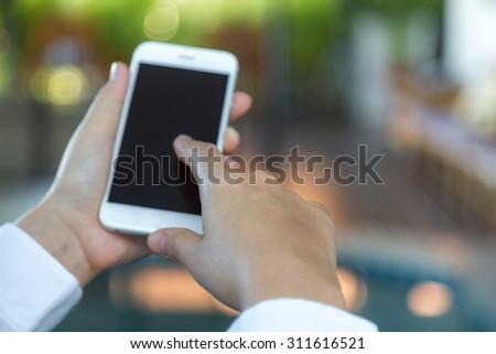 Hand hold Smart Phone #311616521