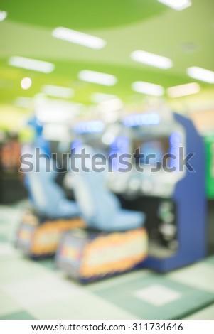 blur image of game arcade #311734646