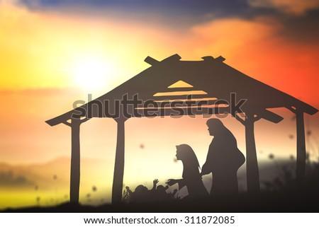 Nativity Christmas concept #311872085