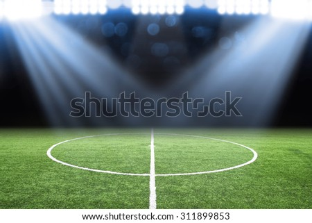 soccer field Royalty-Free Stock Photo #311899853