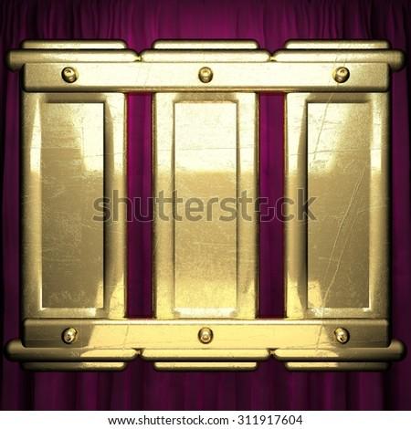 gold on red velvet curtain background #311917604