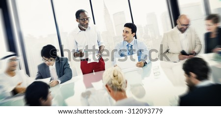 Business People Meeting Discussion Communication Concept #312093779