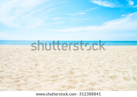 Empty sea and beach background with copy space #312388841