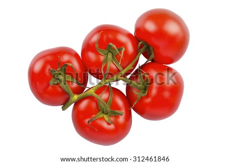 Bunch of fresh tomatoes #312461846
