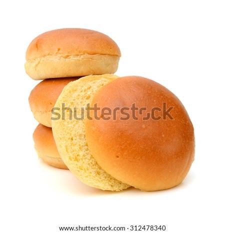 Hamburger buns isolated on white background #312478340
