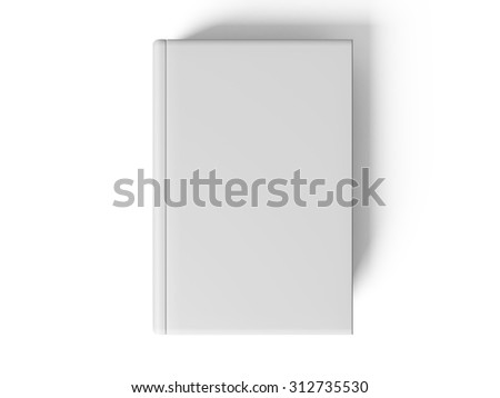 Black pen on white open book, on white background, concept #312735530