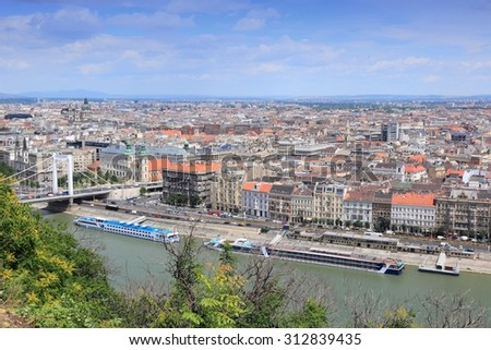 Budapest city, Hungary. Beautiful city view with Danube river. #312839435