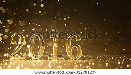 Golden 2016 for new year holidays #312981239
