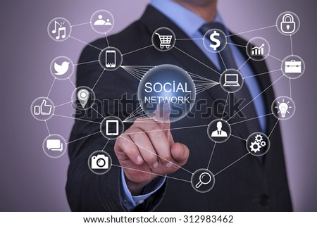 Touch Social Network and Social Network Concept #312983462