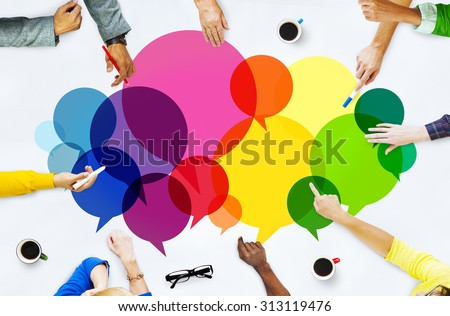 Casual People Message Talking Communication Concept Royalty-Free Stock Photo #313119476