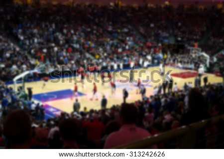 blurred background of sports arena crowd                               #313242626