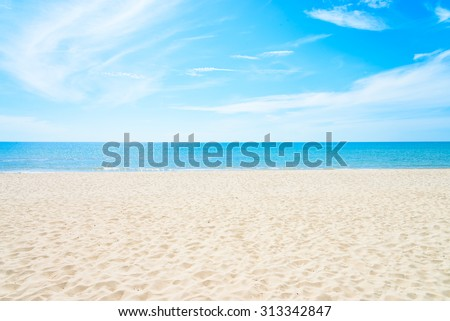 Empty sea and beach background with copy space #313342847