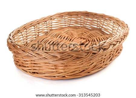 wicker basket isolated on white background #313545203