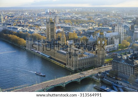 Houses of Parliament Westminster Palace London gothic architecture #313564991