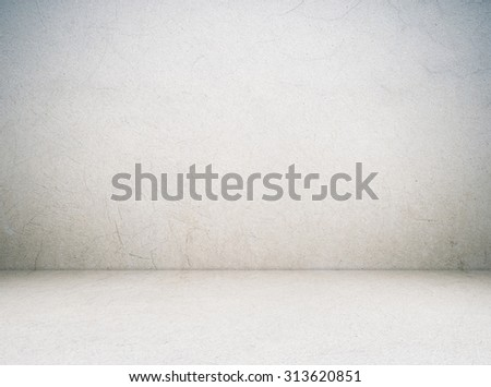 Empty cement room in perspective view, grunge background, interior design #313620851