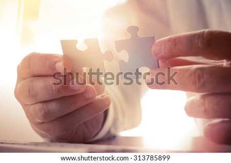 Building a business success. Concept for consulting, marketing, business, strategy and planning. Royalty-Free Stock Photo #313785899