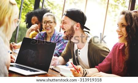 Diversity Friends Brainstorming Teamwork Meeting Concept #313919318