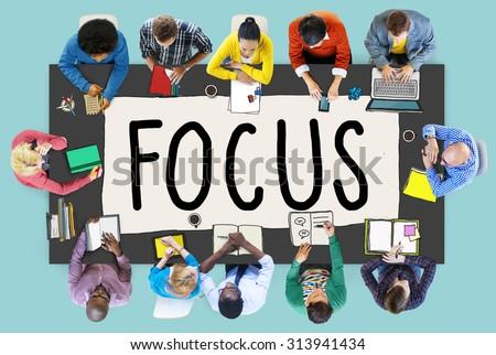 Focus Determine Centre Concentrate Point Concept #313941434