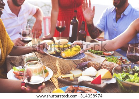 Diverse People Luncheon Food Sharing Concept #314058974
